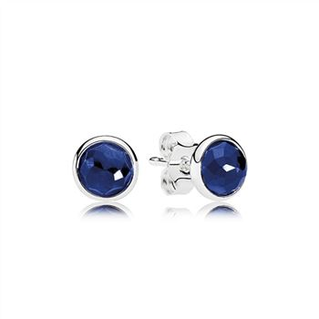 Pandora September Droplets Stud Earrings, Synthetic Sapphire 290738SSA