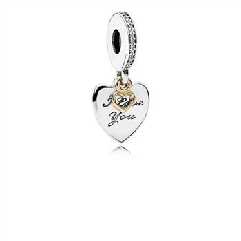 Pandora Love You Forever Dangle Charm, Clear CZ 792042CZ