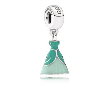 Pandora Disney, Ariel's Dress Dangle Charm, Mixed Enamel 791577ENMX