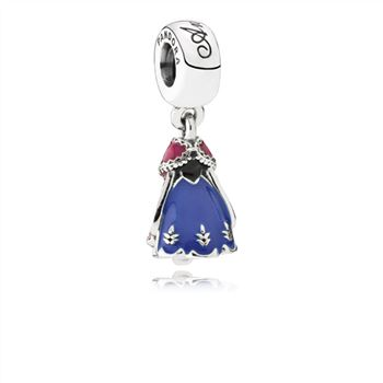 Pandora Disney, Anna's Dress Dangle Charm, Mixed Enamel 791591ENMX