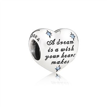 Pandora Disney, Cinderella's Dream Charm, Fancy Light Blue CZ 791593CFL