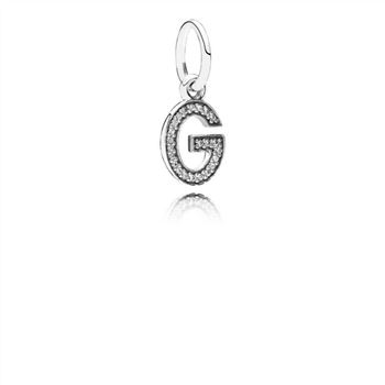 Pandora Letter G Dangle Charm, Clear CZ 791319CZ