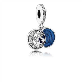 Pandora Vintage Night Sky Dangle Charm, Shimmering Midnight Blue Enamel & Clear CZ 791993CZ