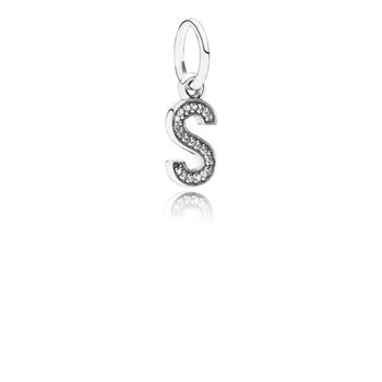 Pandora Letter S Dangle Charm, Clear CZ 791331CZ