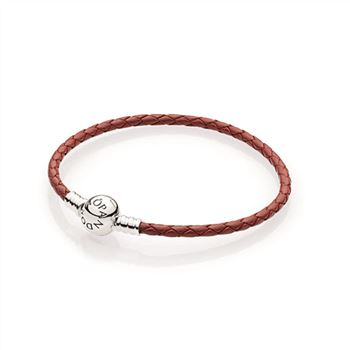 Pandora Red Braided Leather Charm Bracelet 590745CRD-S