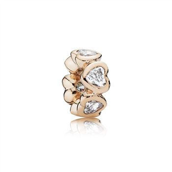 Pandora Space In My Heart Spacer, PANDORA Rose & Clear CZ 781252CZ