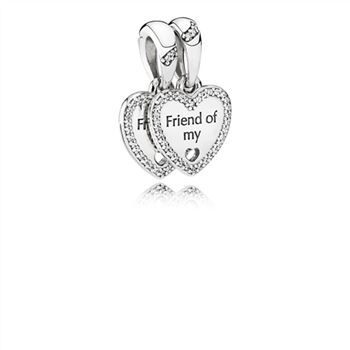 Pandora Hearts of Friendship Pendant Charm 792147CZ