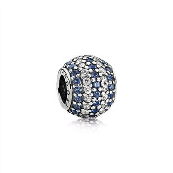 Pandora Nautical Pave Lights, Blue Crystal & Clear CZ 791172NCB