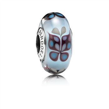 Pandora Butterfly Kisses Blue Glass Charm - PANDORA 791622