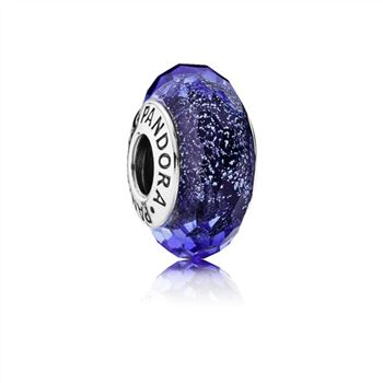 Pandora Blue Fascinating Iridescence Charm, Murano Glass 791646
