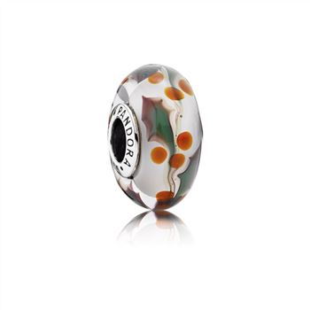 Pandora Christmas Holly Charm, Murano Glass 791647