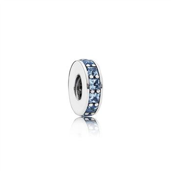 Pandora Eternity Spacer, Sky-Blue Crystal 791724NBS