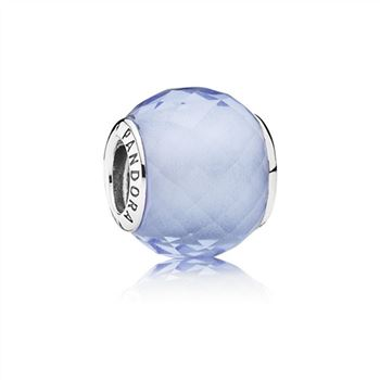 Pandora Petite Facets Charm, Synthetic Blue Quartz 791499SBQ