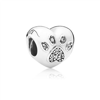 Pandora I Love My Pet Charm, Clear CZ 791713CZ