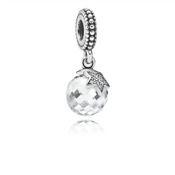 Pandora Light of the Moon Zirconia & Silver Hanging Charm - PANDORA 791392CZ