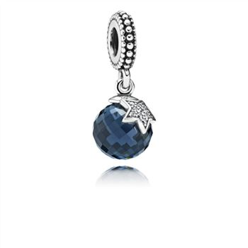 Pandora Light of the Moon Blue Zirconia Hanging Charm - PANDORA 791392NBC