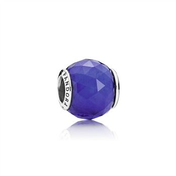 Pandora Geometric Facets Charm, Royal Blue Crystal 791722NCB